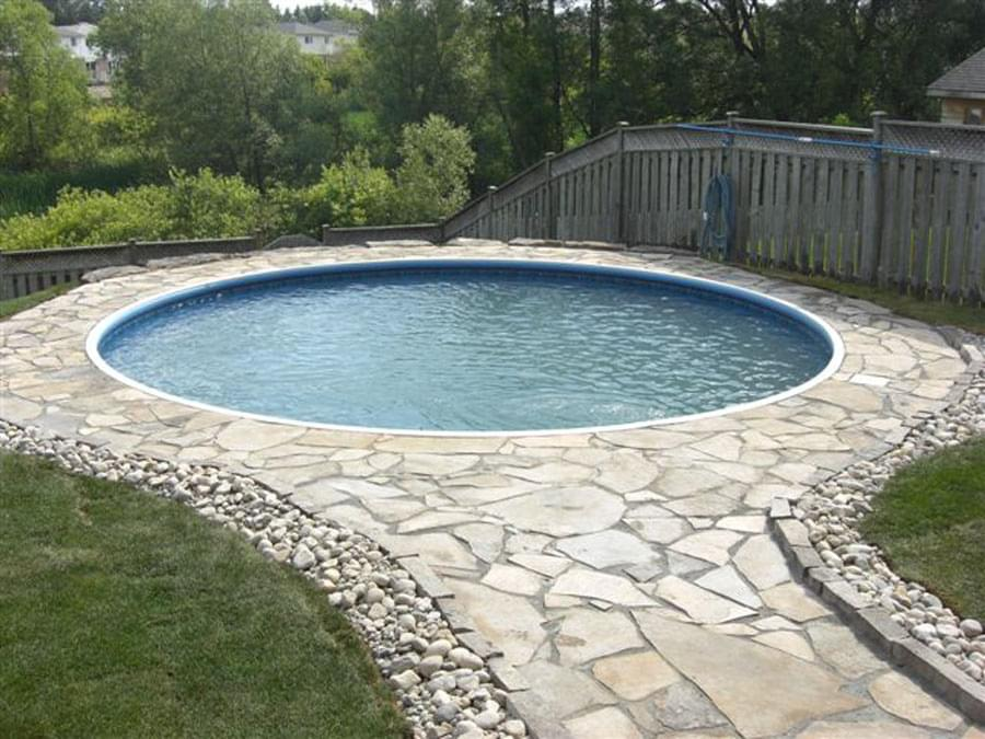 Eternity kidney pool supplies canada for Semi inground pool